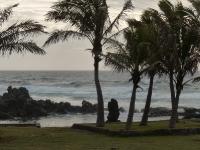 Vers Rapa Nui, seule ville de l'ile de Paques