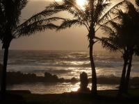 Coucher de soleil à Rapa Nui