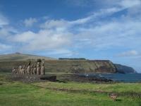 Ahu Tongariki: les 15 moaïs