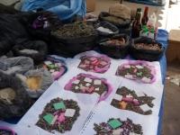 Dans les rues de Tarabuco: offrandes