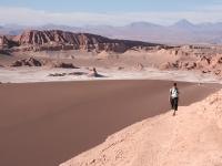 Dune de sable dans la vallée de la lune