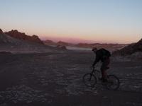 Vélo dans la Vallée de la lune