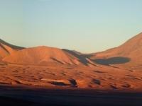 Panorama du Licancabur au coucher de soleil