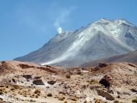 Volcan Ollagüe en activité