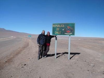 La frontiere a 4 000m d'altitude