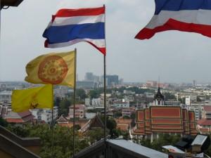 Bangkok depuis la Golden Mountain
